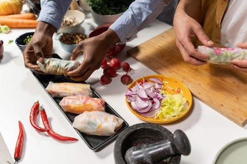 People Preparing a Healthy Dish