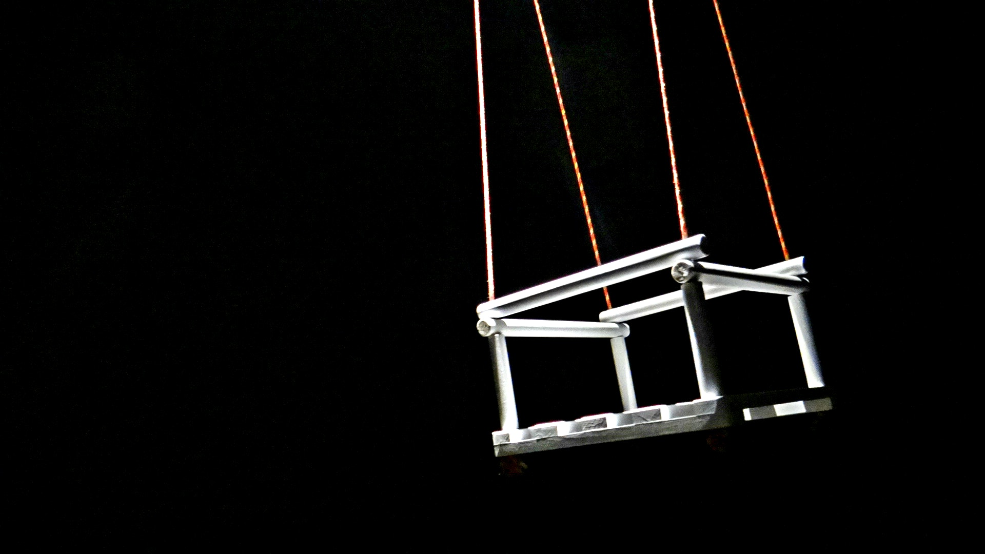 Free Stock Photo Of A White Swing Black Background