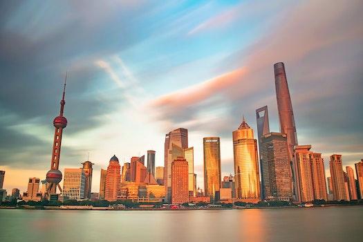 Free stock photo of 日落, 建筑, 上海, 外滩