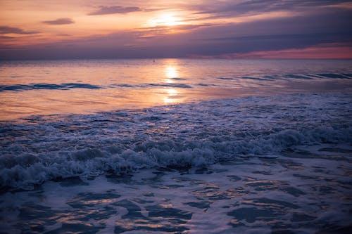 Sea Waves during Sun Set