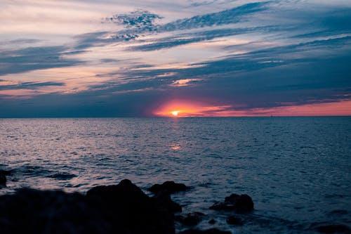 Ingyenes stockfotó ég, felhők, naplemente, óceán témában