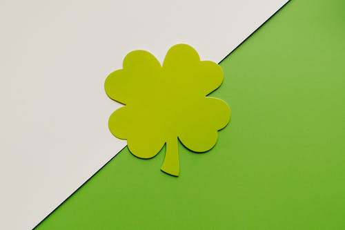 Close-Up Photo of a Clover Leaf Cut Out