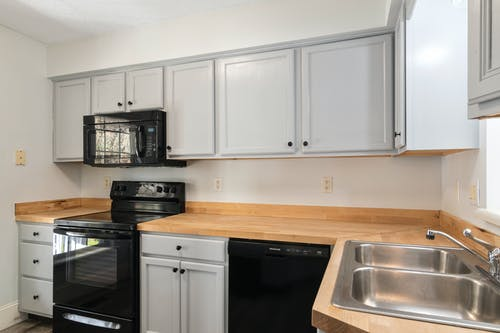 Photo of Kitchen Cabinets and Appliances