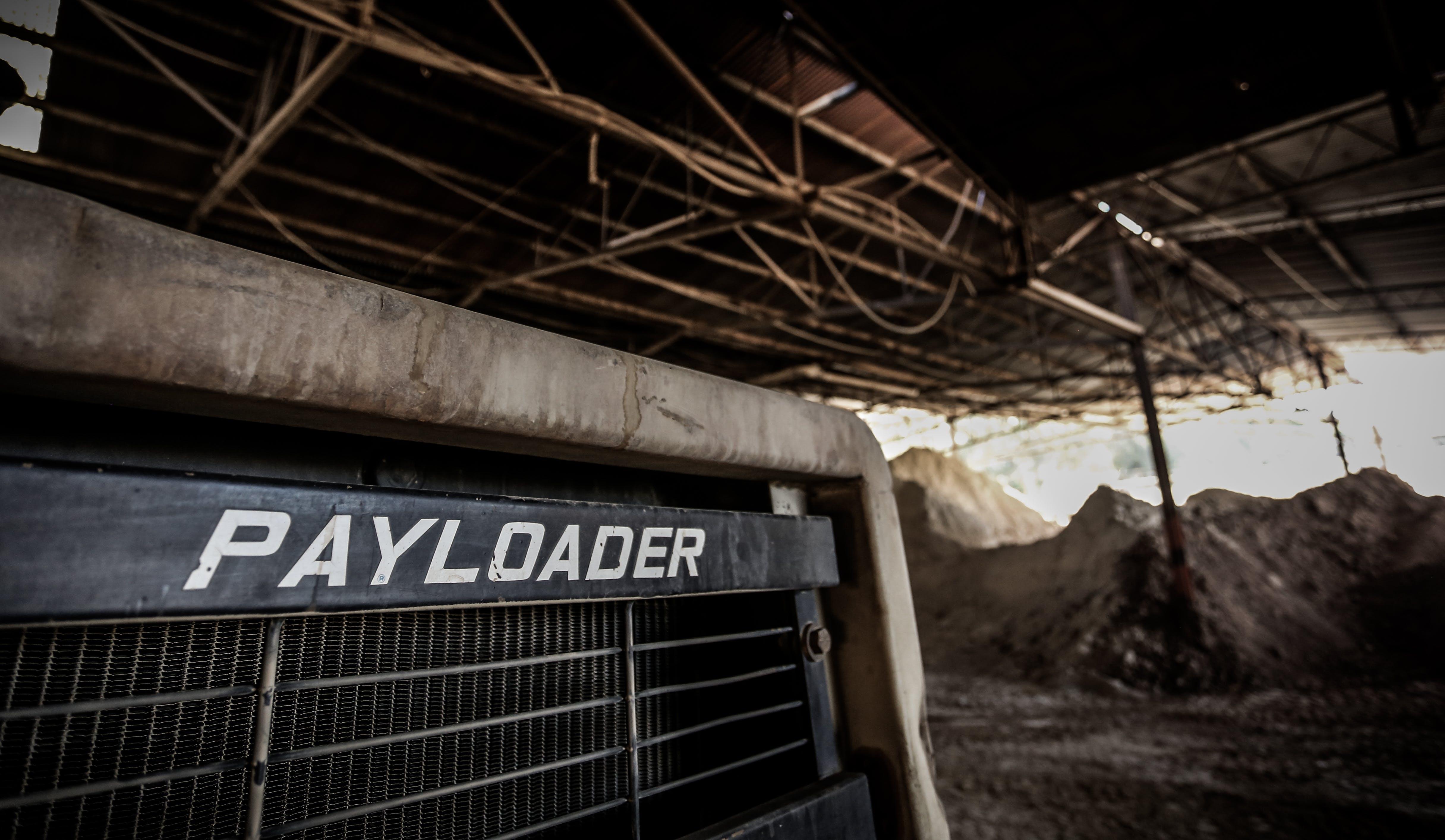 Black Payloader in Hanger