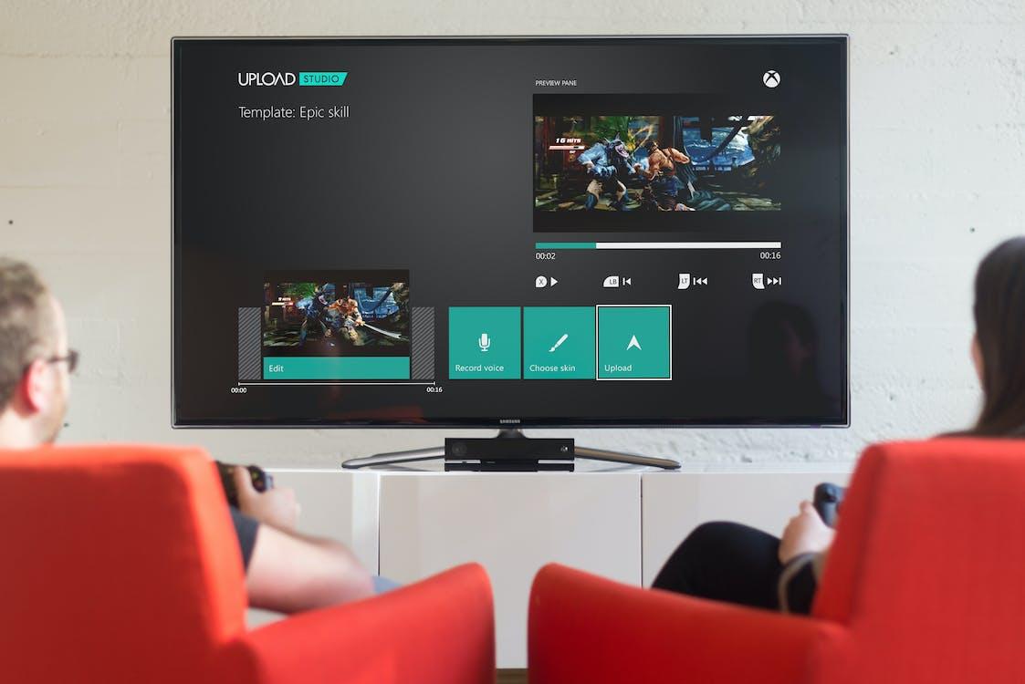 Free stock photo of gaming, watching tv, xbox