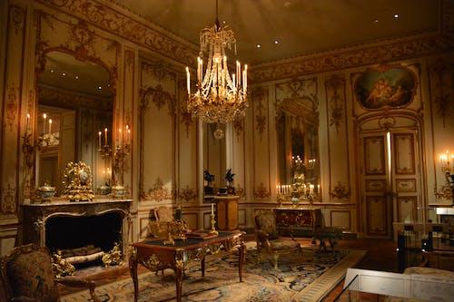 內飾, 吊燈, 城堡, 客廳 的 免費圖庫相片