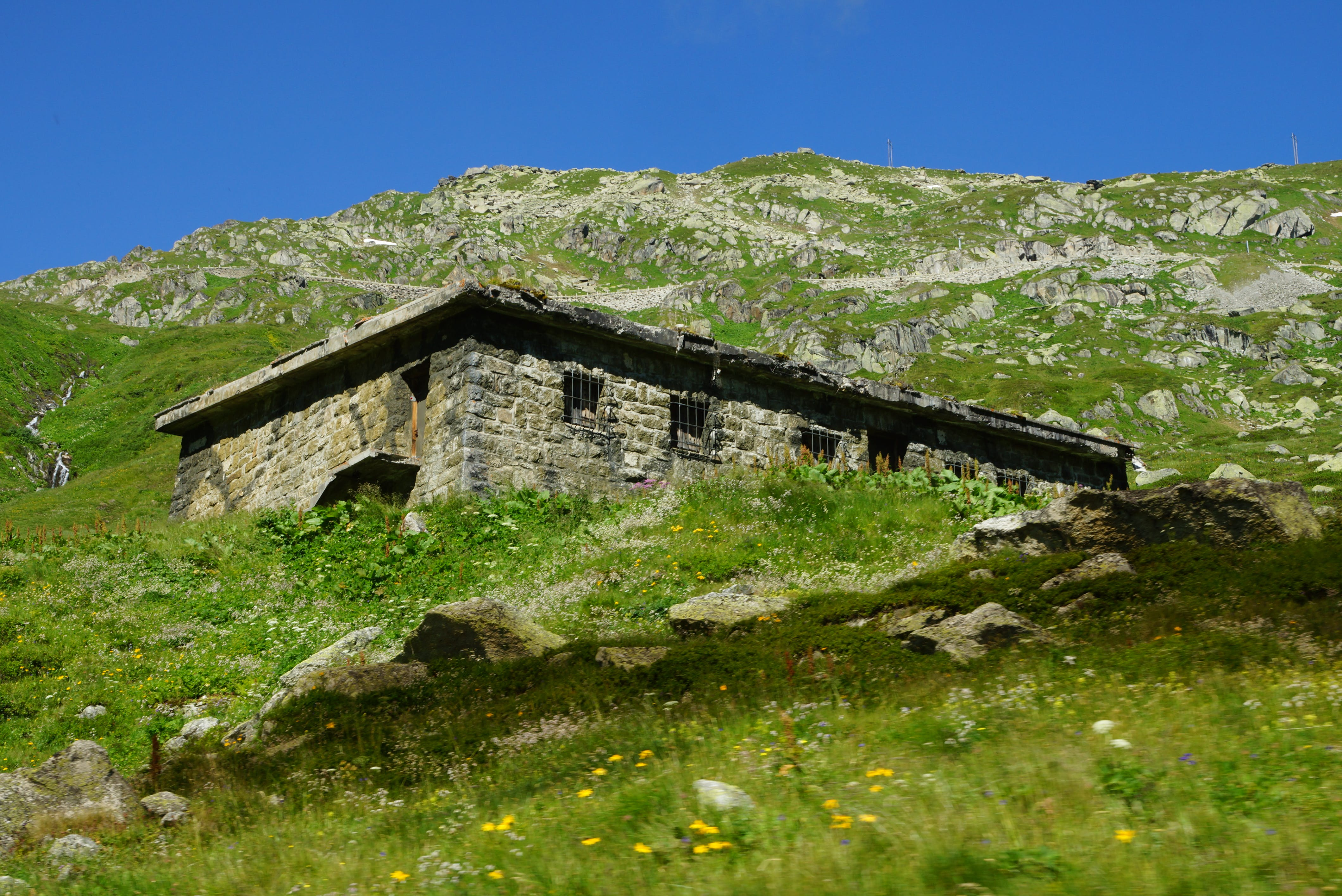 Free stock photo of summer, house, rock, alps