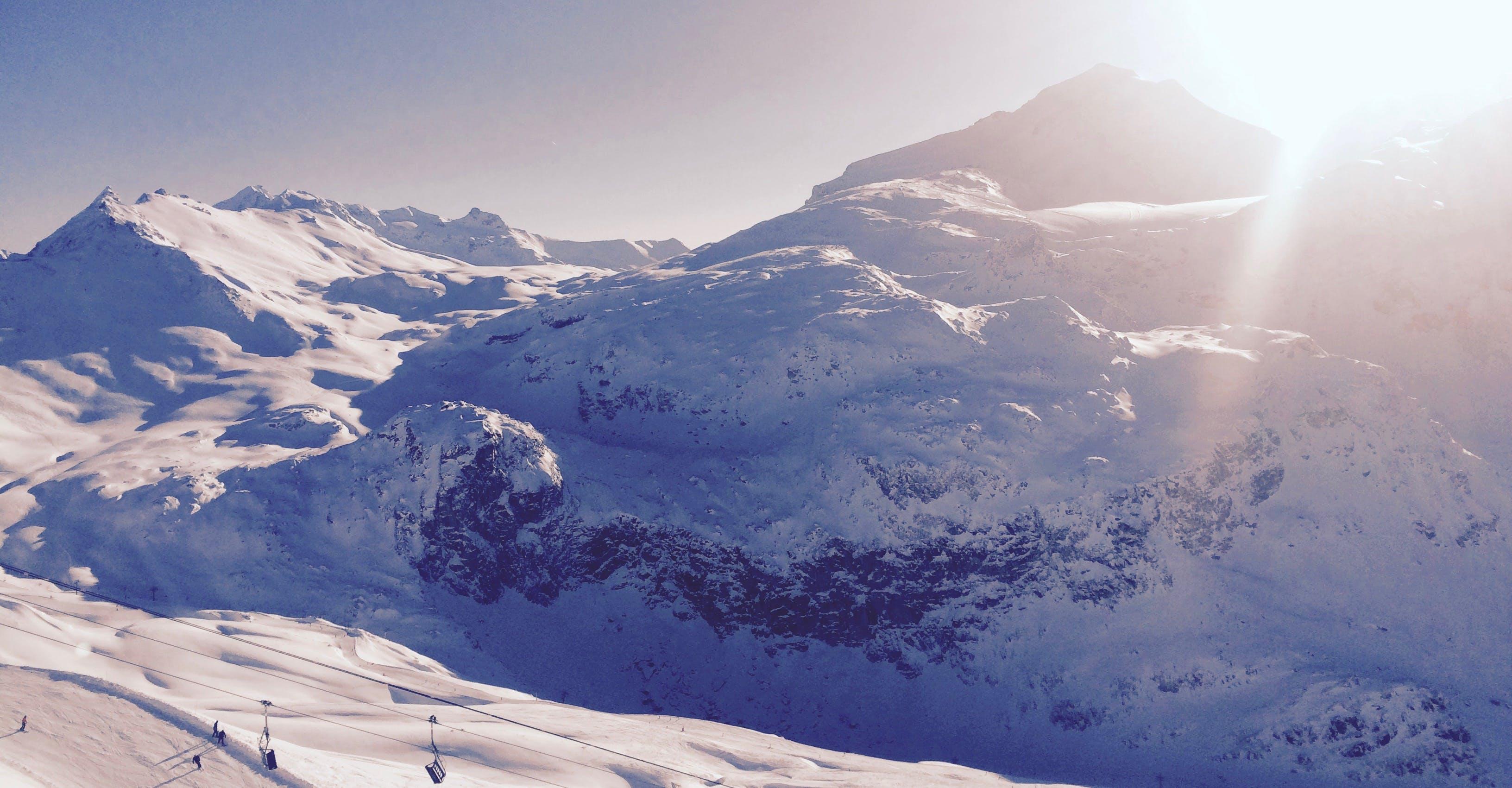 White Snowy Mountain during Daytime