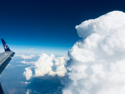 Free stock photo of above clouds, above ground, airplane