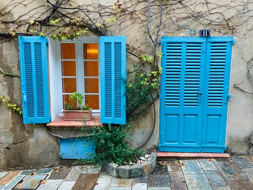 Free stock photo of blue, cozy home, france