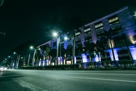 city, road, lights