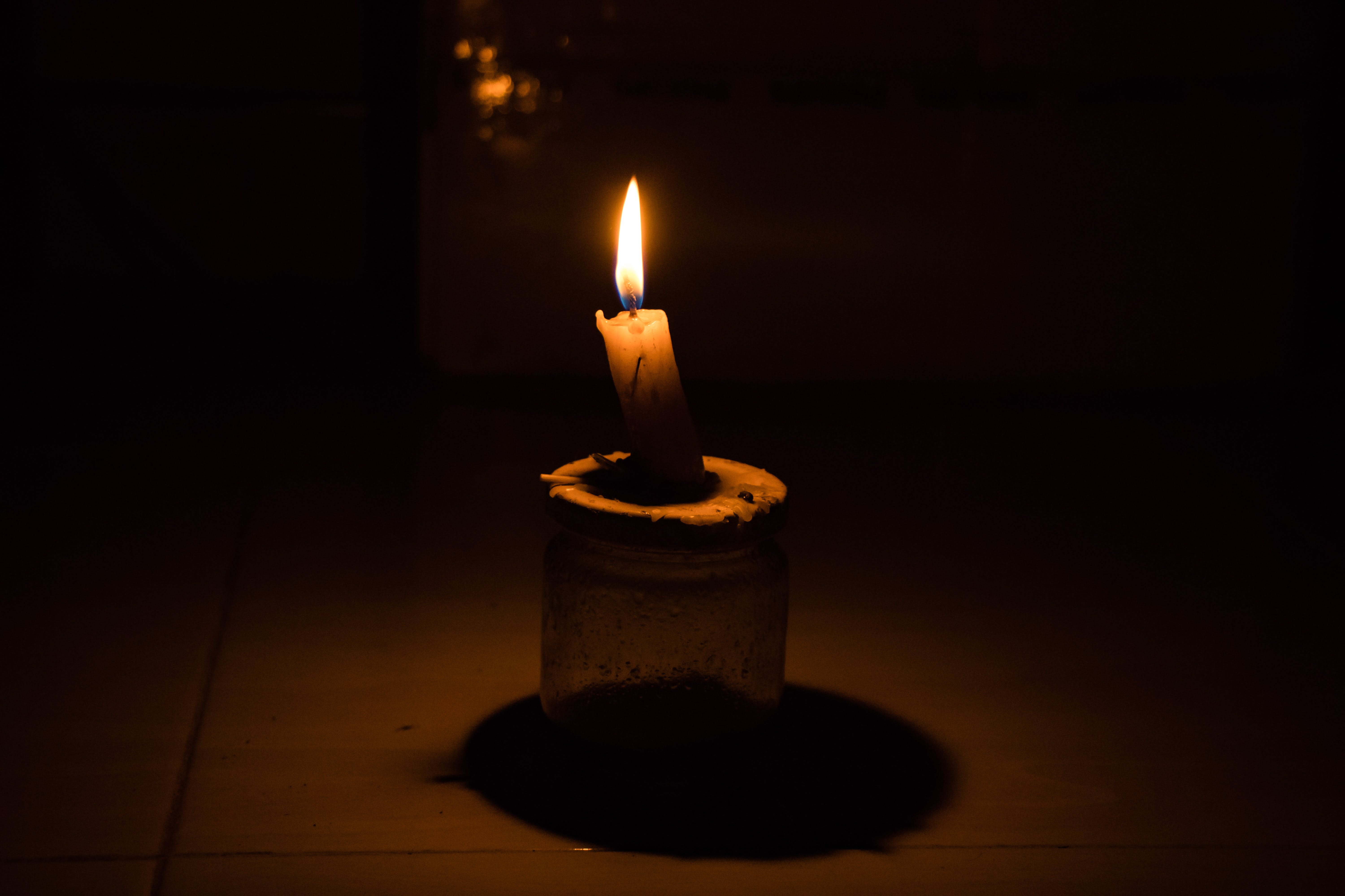 Free stock photo of Candle light in the dark