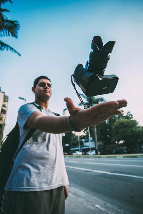 digitalt speilreflekskamera, dslr, fotograf
