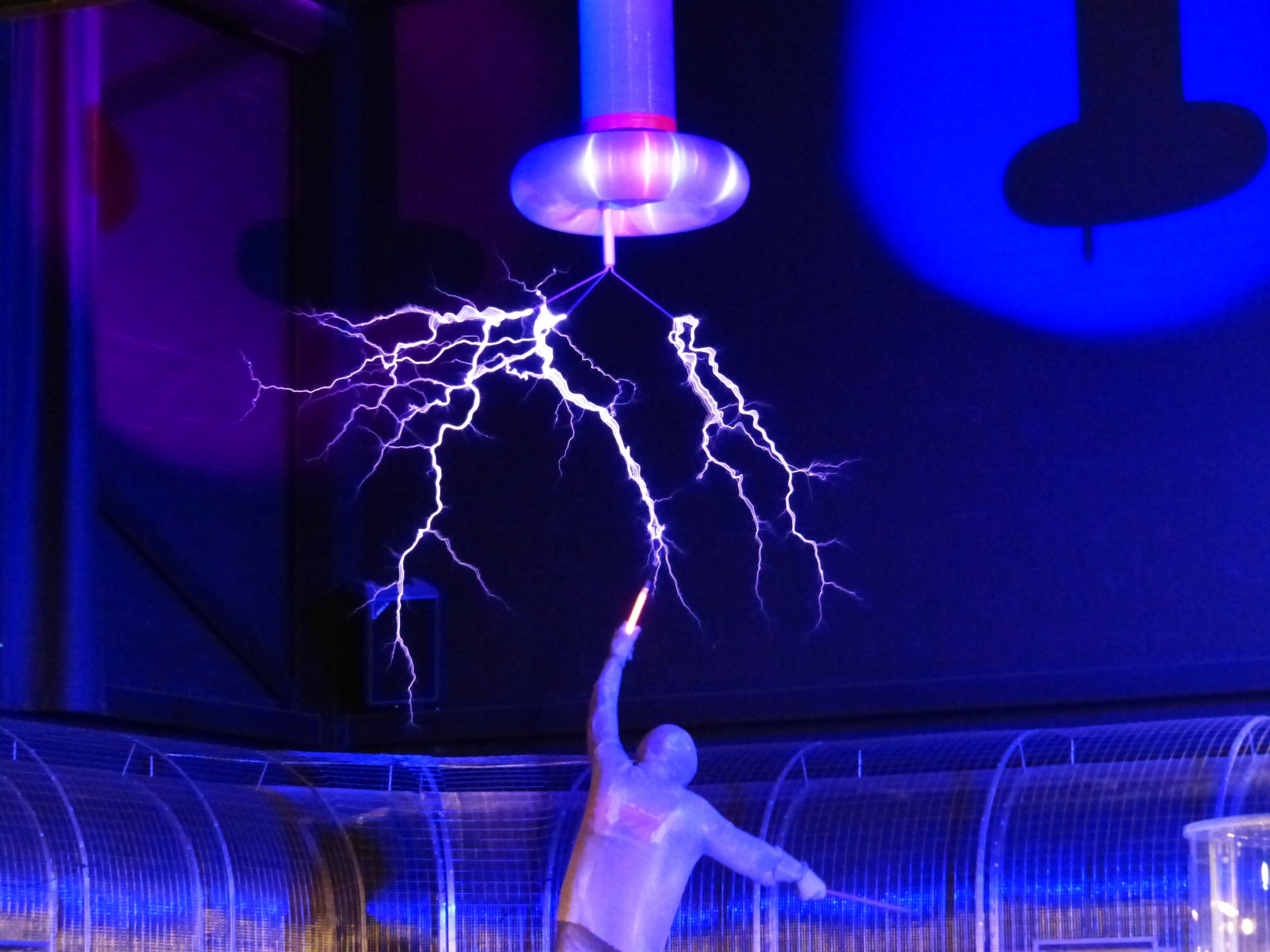 Man Near Lightning