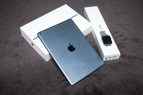 High Tech Electronic Devices with Boxes