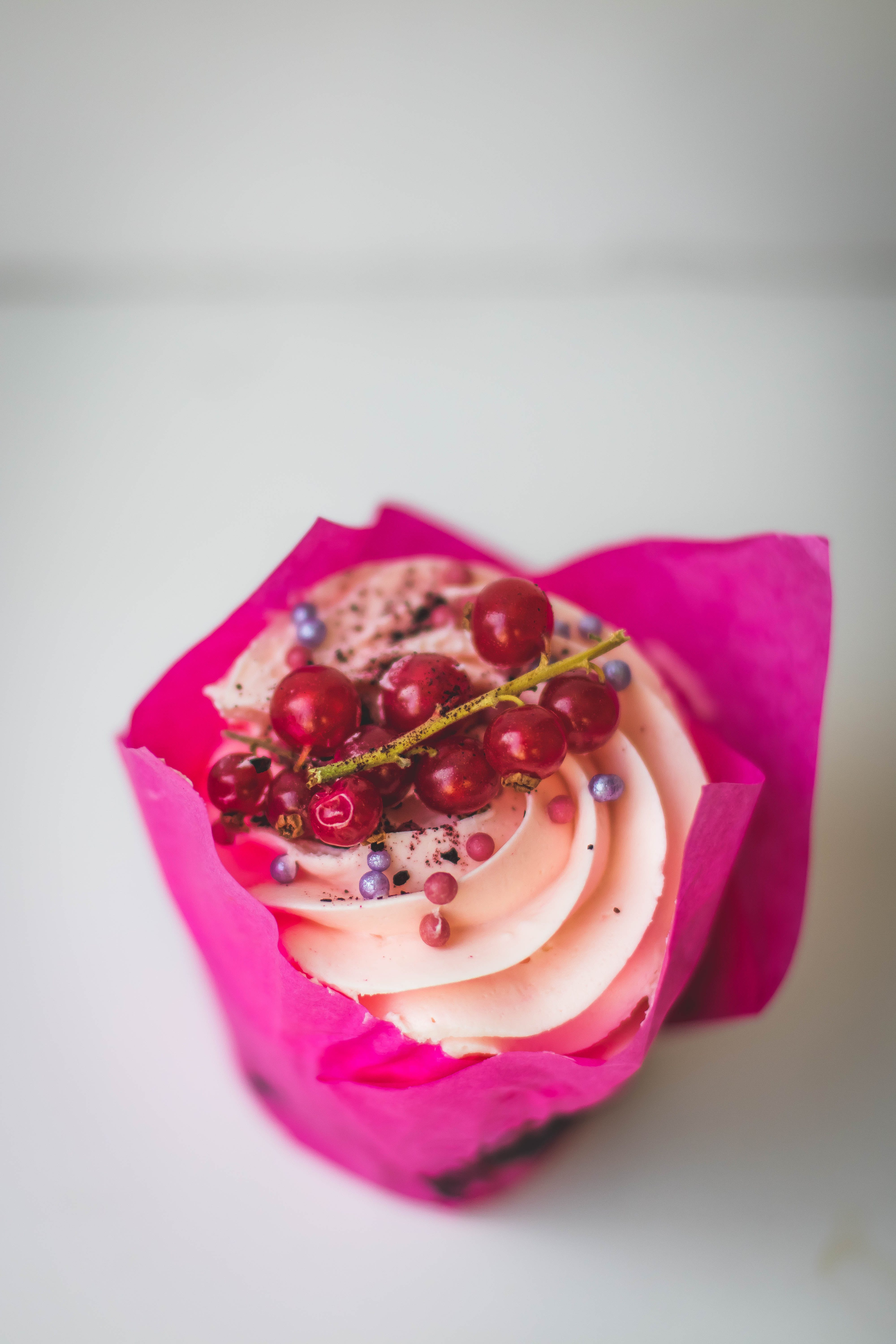 Cupcake With Red Berries on Top