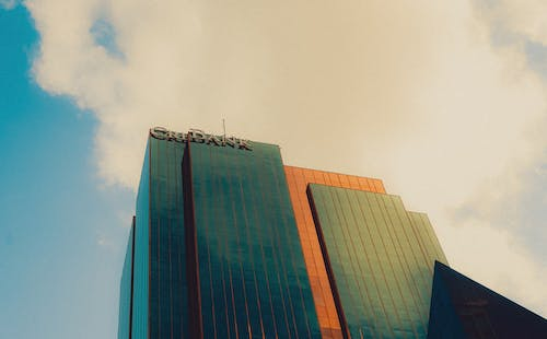 Free stock photo of building, clouds sky, green