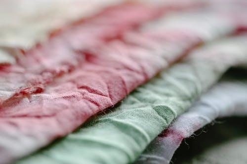 Pile of crumpled fabric in studio