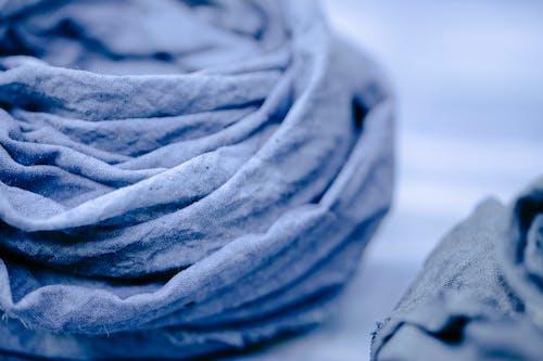 Crumpled cloth in light studio