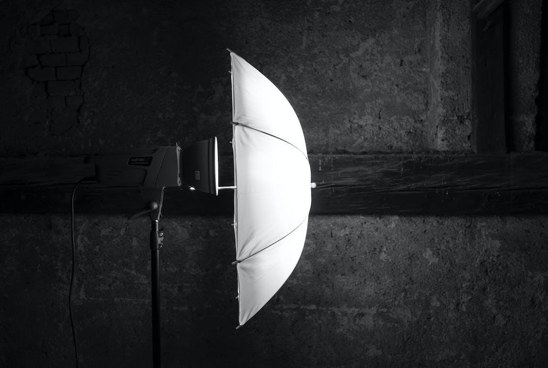 Free stock photo of black and white, black background, flash