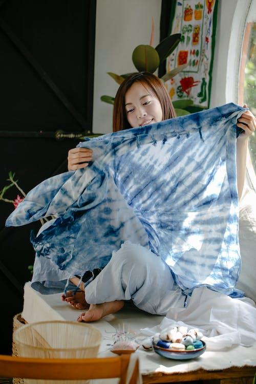 Darmowe zdjęcie z galerii z azjatka, barwnik do krawata, bawełna