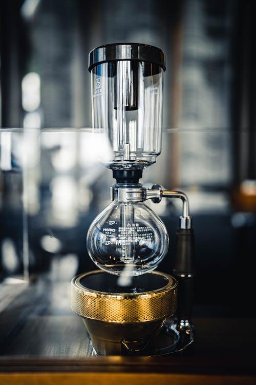 Professional vacuum coffeemaker on table