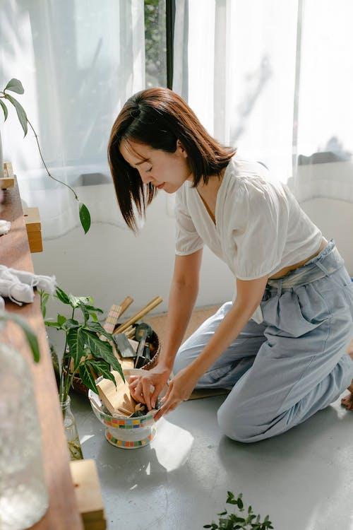 Бесплатное стоковое фото с азиатка, ателье, брюнетка