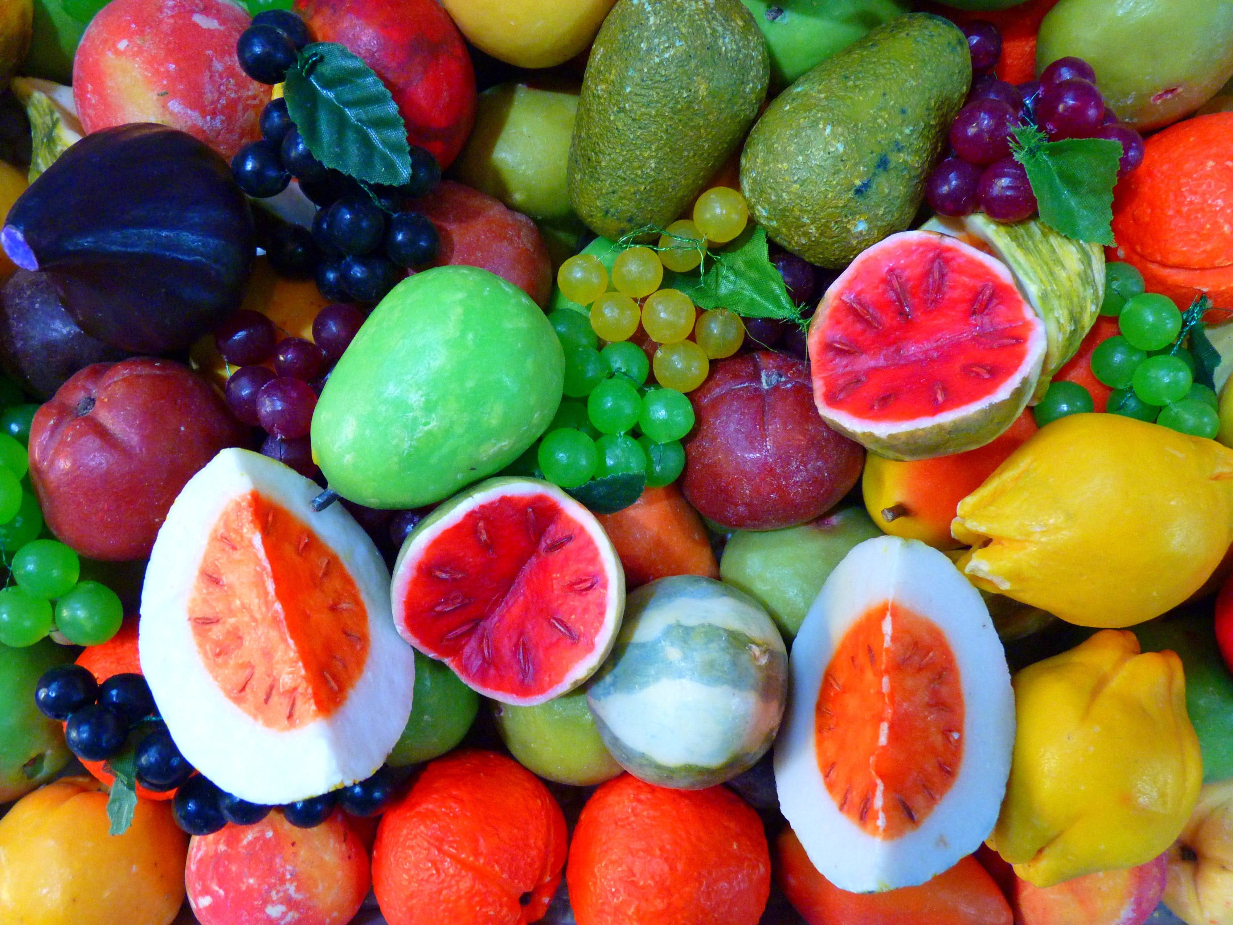 Red Yellow and Green Fruits