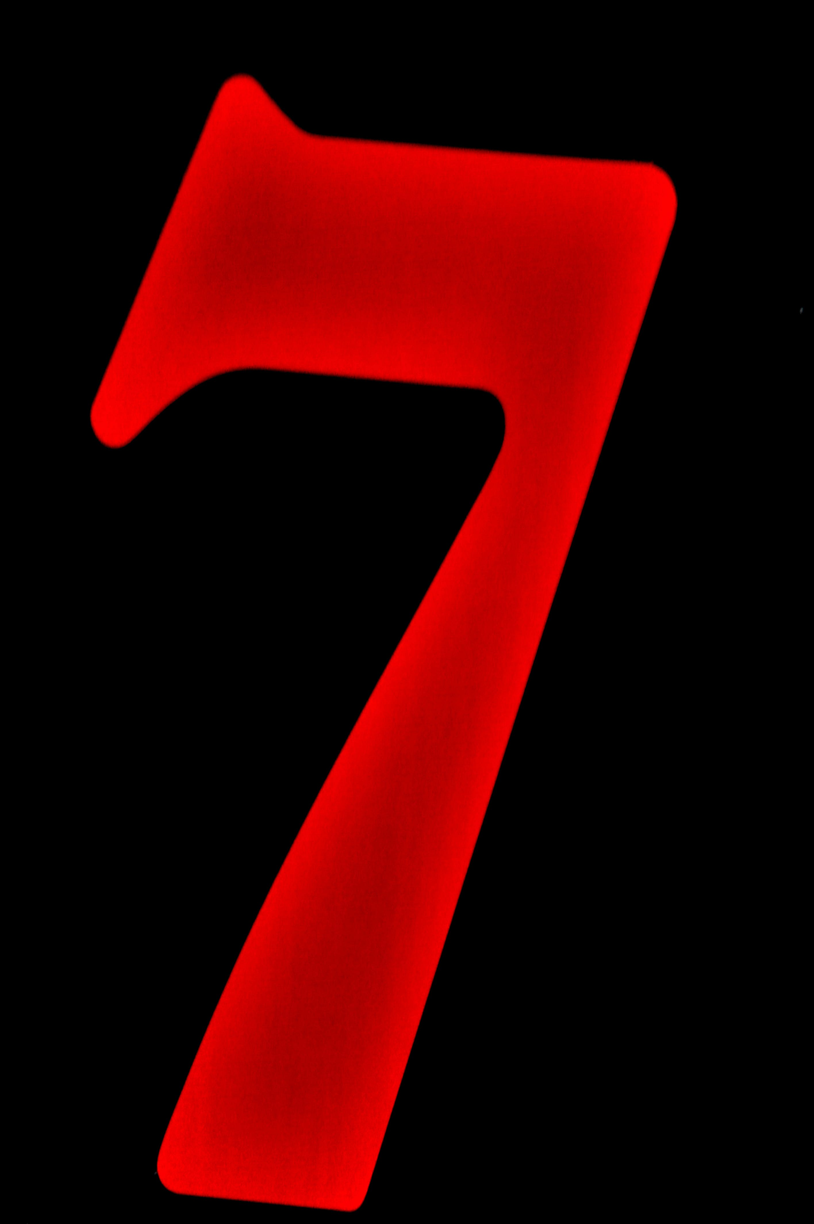 Free stock photo of seven, number seven, number 7, red seven