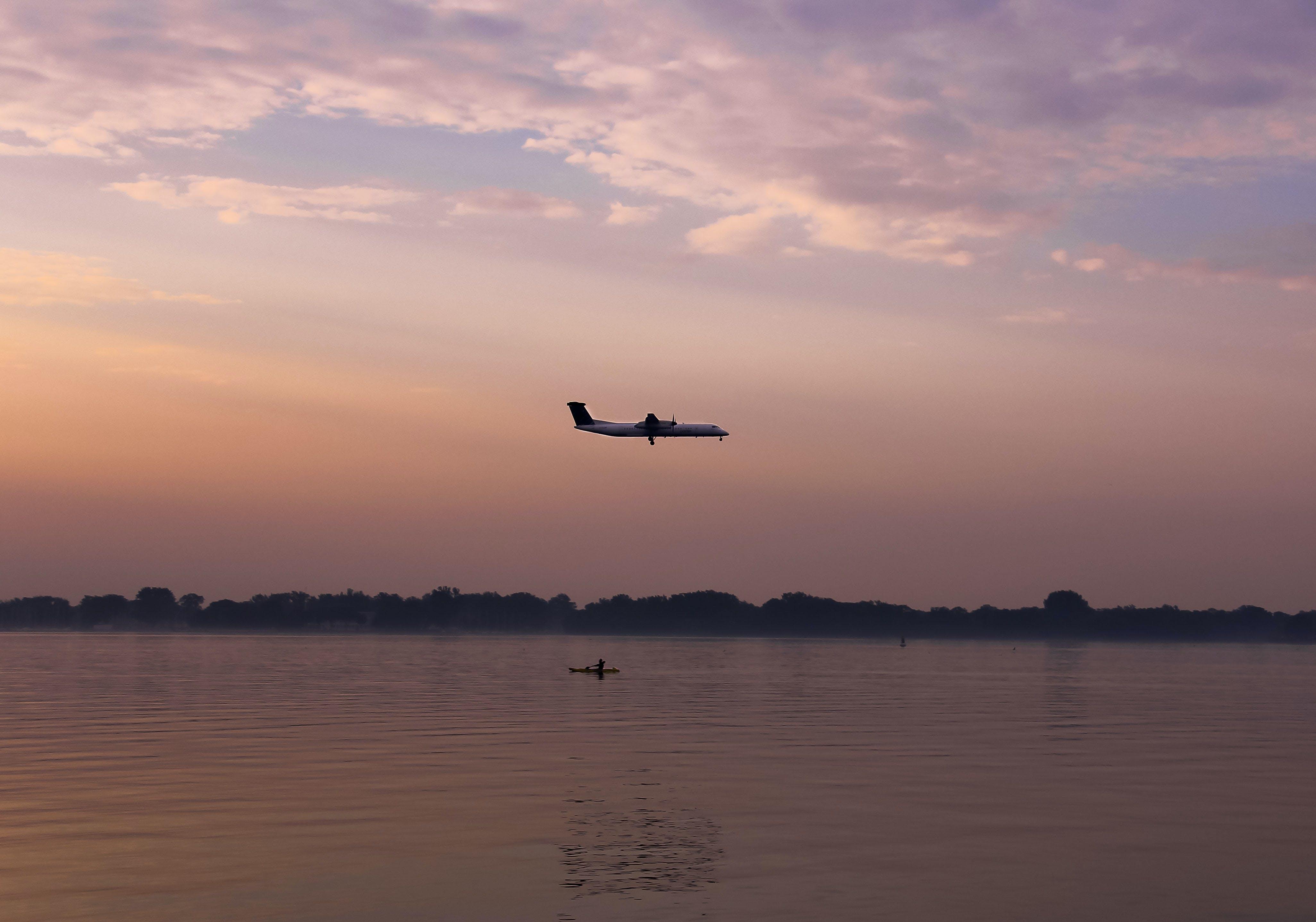 Free stock photo of flying, Island Airport, kayak, plane