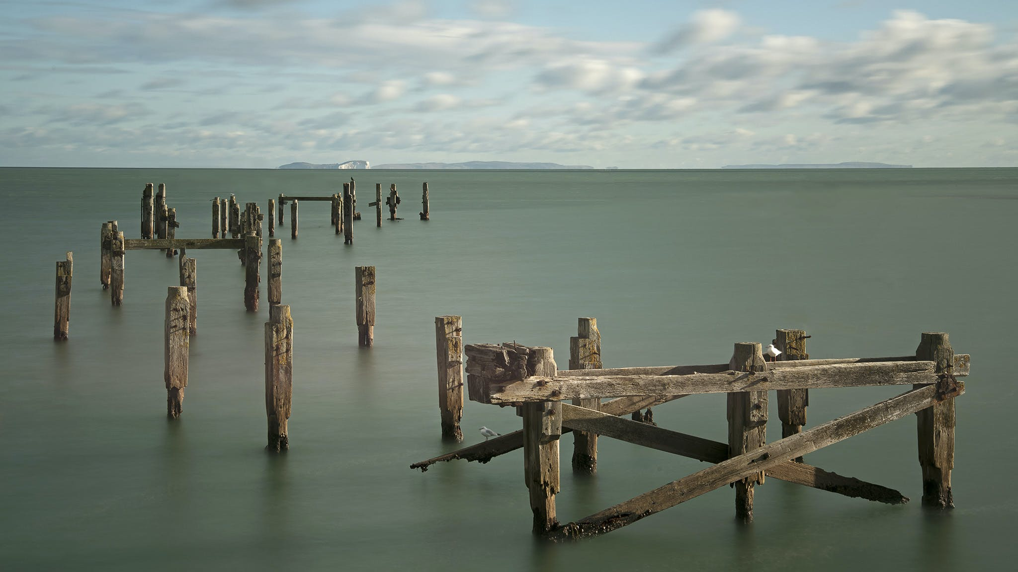 Free stock photo of calm waters, pier, Rotten Wood, seascape