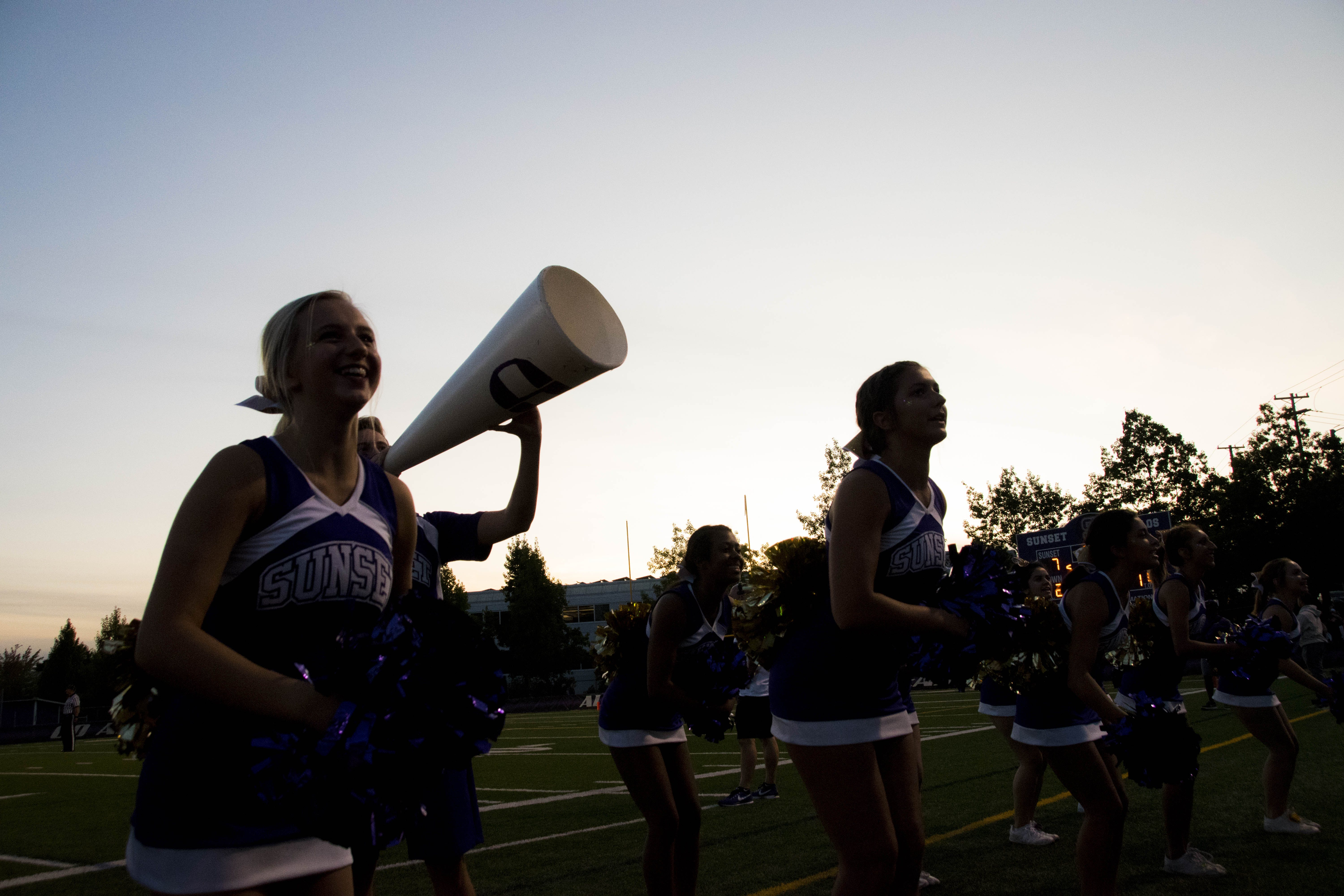 Cheering Squad on Football Field