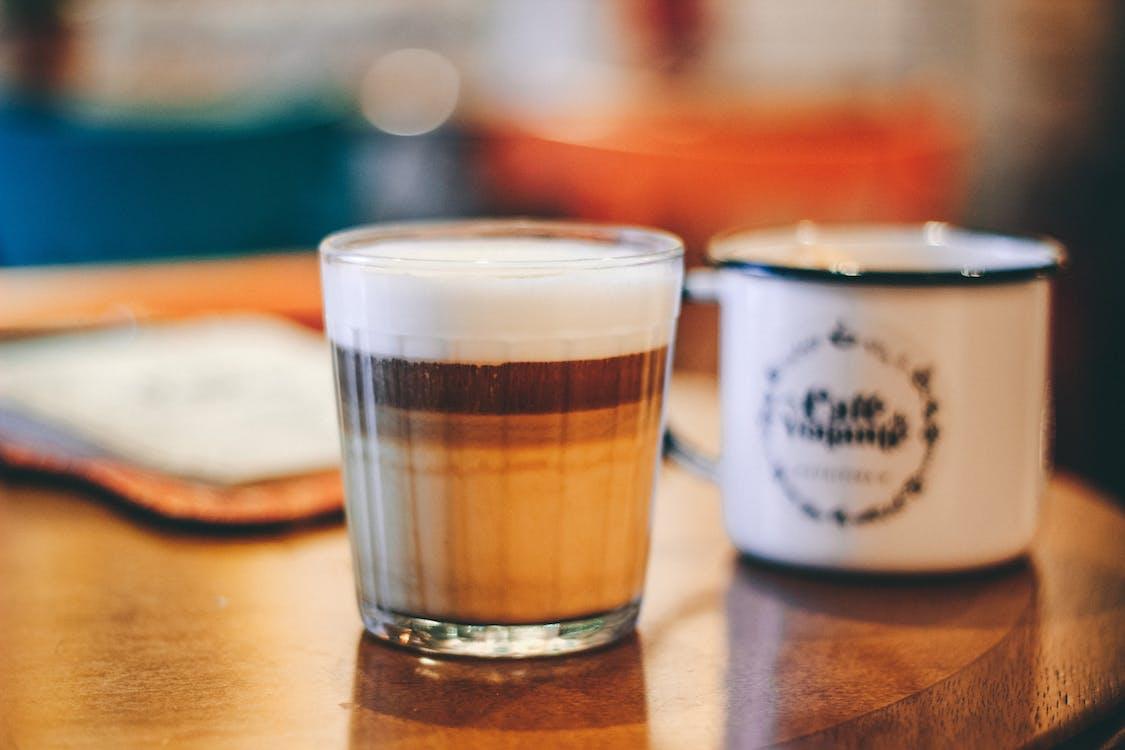 cappuccino, close-up, delikat
