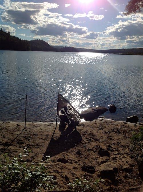 Free stock photo of camping, pirate, skull crossbones