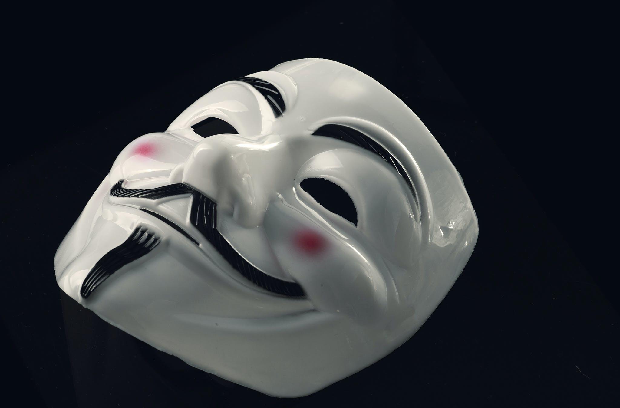 Kostenloses Stock Foto zu anonym, design, fawkes maske, geheimnis
