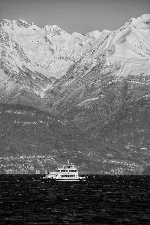 Free stock photo of grey, lake, ship
