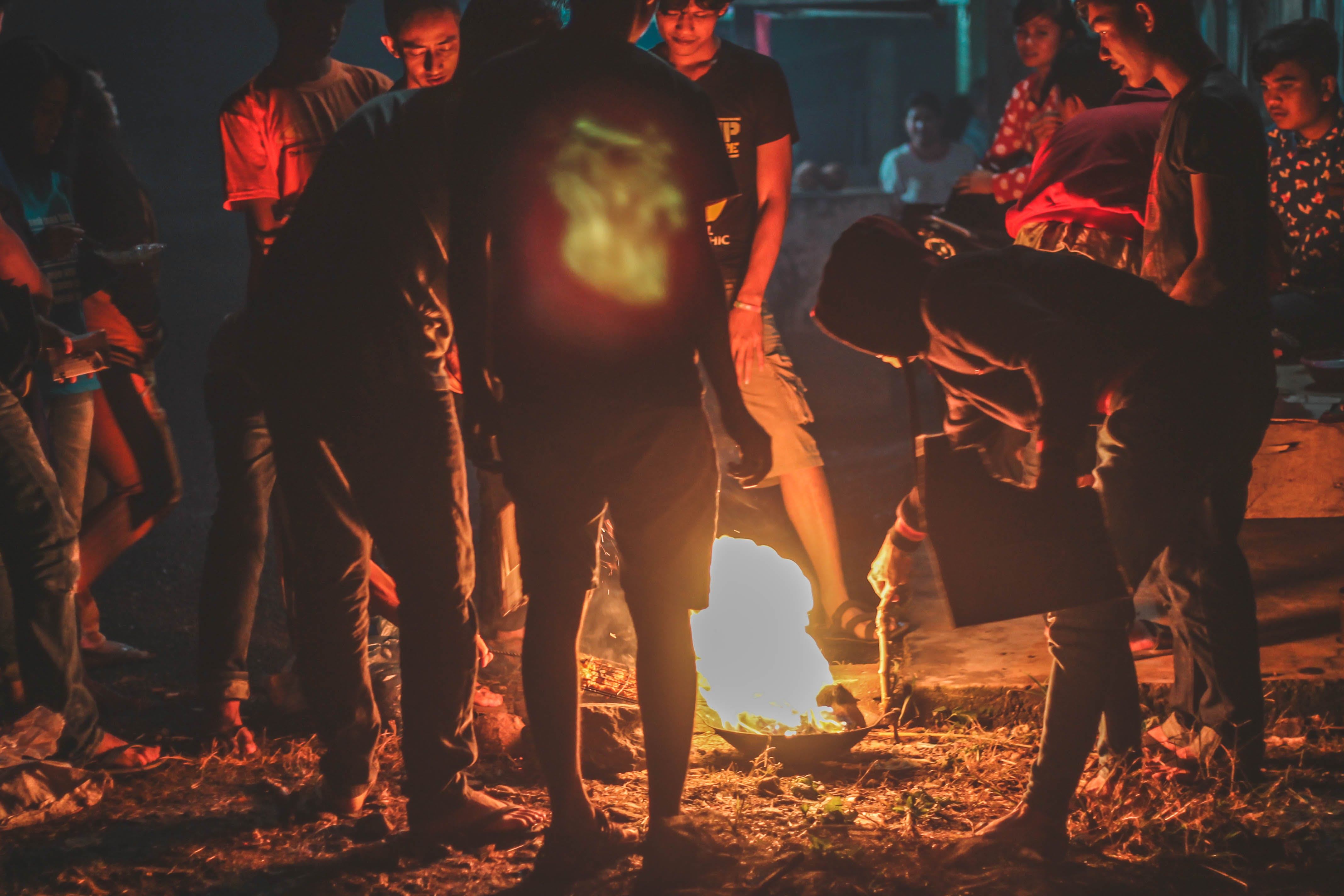 Free stock photo of #event, #fire, #group, #night