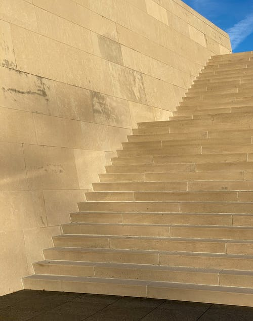 Gray Concrete Stairs