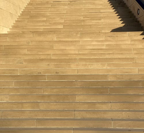 Empty stairs on street in daylight