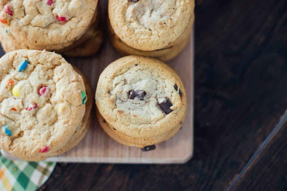 Baked Cookies on Brown Rack