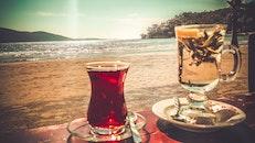sea, beach, cup