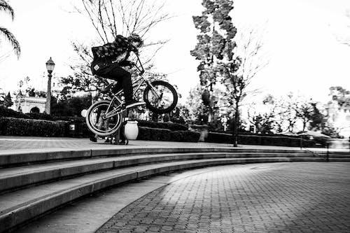Free stock photo of bicycle, bike, black and white