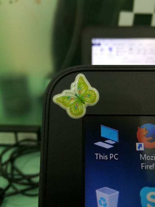 Free stock photo of butterfly, butterfly on screen, green technology