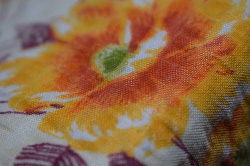 Free stock photo of bedsheet, flowers, orange