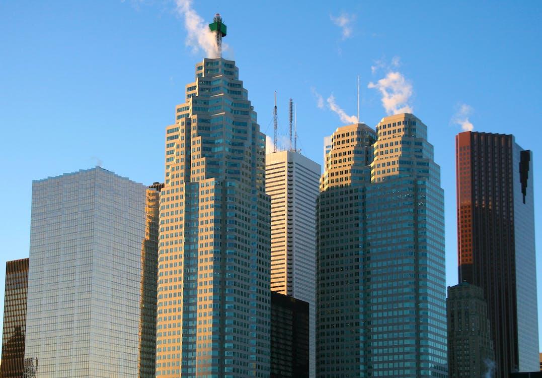 ciutat, districte central de negocis, edificis