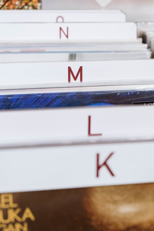 Close Up Shot of Vinyl Records at the Store