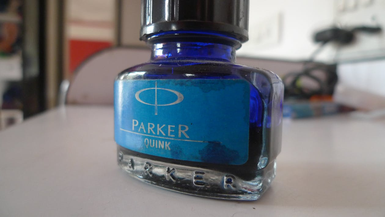 Free stock photo of ink, parker, parker quink