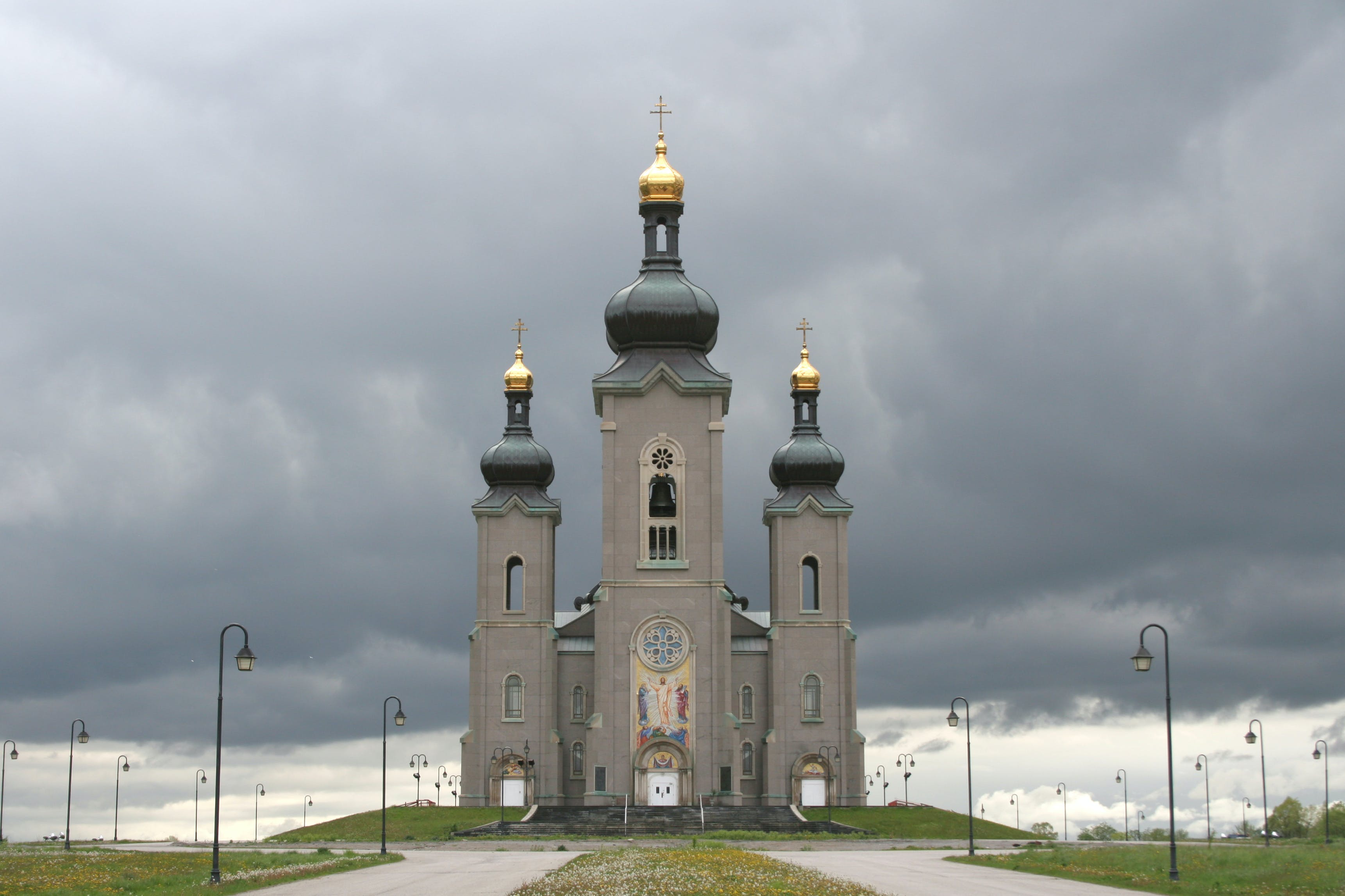 Free stock photo of church, orthodox, stormy sky