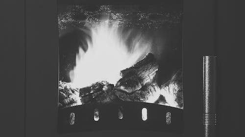 Free stock photo of black and white, bonfire, fire