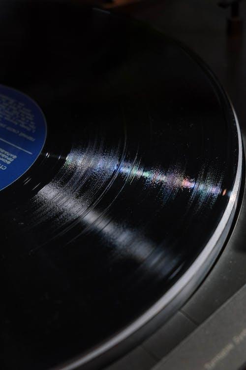 Close-Up Shot of a Vinyl Record